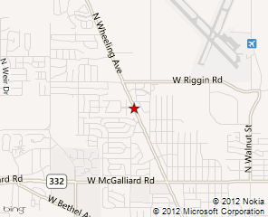A map of Muncie Allergy Center. Click to see the map on MSN Maps & Directions
